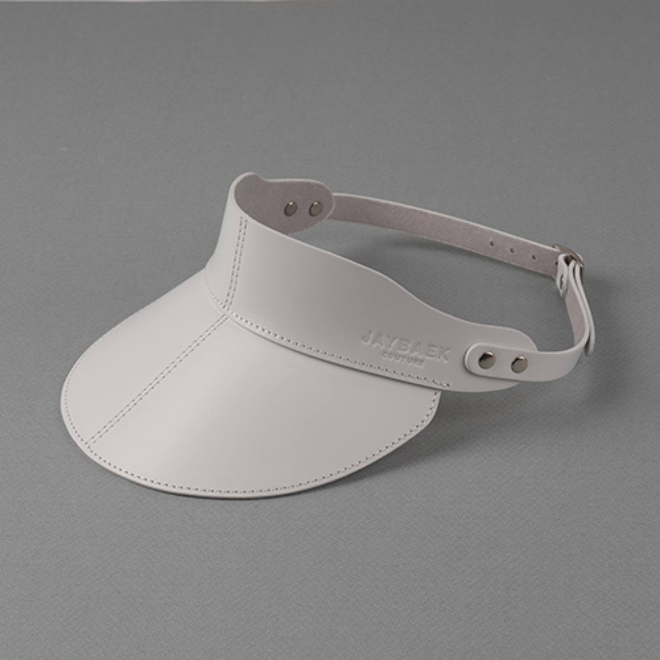 LEATHER SUNCAP (WHITE)